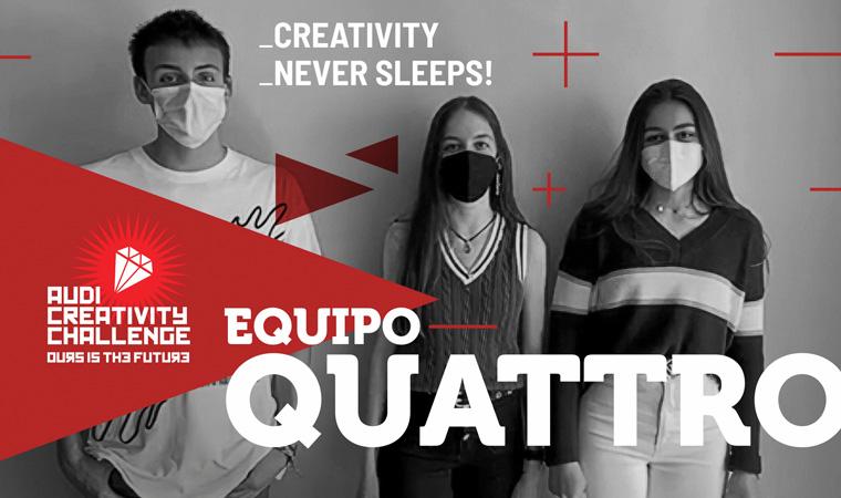 ¡Enhorabuena al Equipo QUATTRO, elegido finalista en la VI Edición del Audi Creativity Challenge!