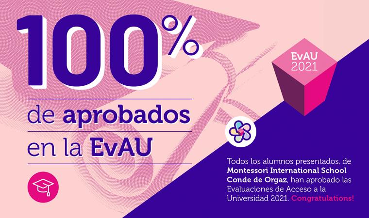 Hemos tenido 100% de aprobados en las Evaluaciones de Acceso a la Universidad (EvAU 2021)